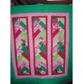Red and Green Braided wall quilt