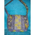 Fabric Purse and Wallet - Gray and Yellow