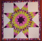Radiant star wall quilt