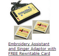 Embroidery Assistant-EMBASA EMBROIDERY ASSISTANT /SINGER adaptor