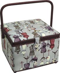 Sewing Basket, Large Square Sewing Basket ZA1005