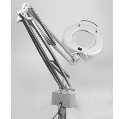 LIGHT MAGNIFIER LAMP DELUXE,WHITE 816277 - Click Image to Close