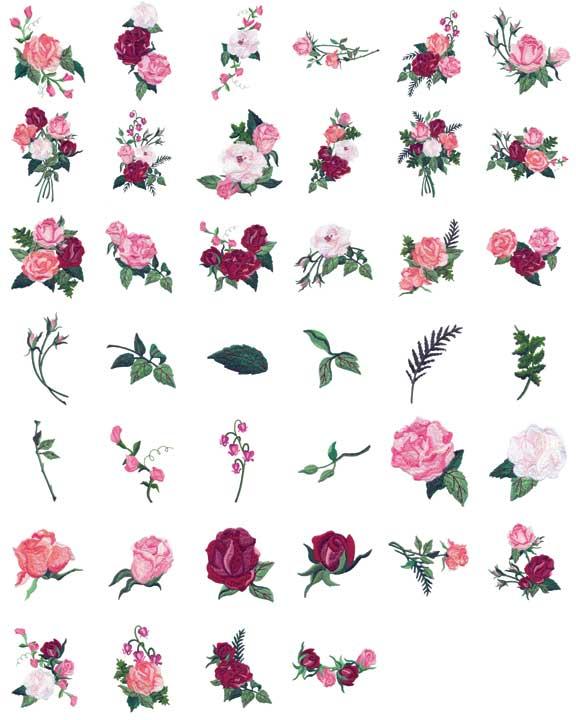 Amazon.com: Husqvarna Viking 1+/Rose/Iris Embroidery Card REDWORK