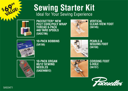 Brother New!!! PACESETTER� Sewing Starter Kit